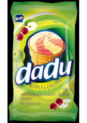 Helado manzana-guinda DADU 36x125ml