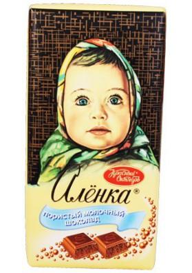 Chocolate  ALENKA de leche con burbujas 95gr KO