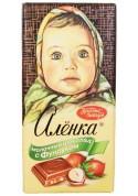 Chocolate  ALENKA de leche con avellanas 100gr KO