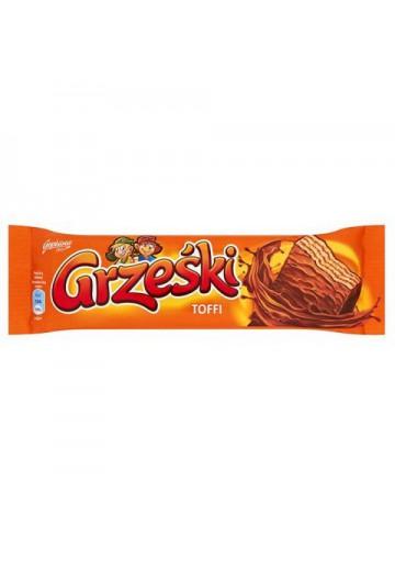 Barquillos en chocolate  GRZESKI TOFFI 36x36gr GOPLANA