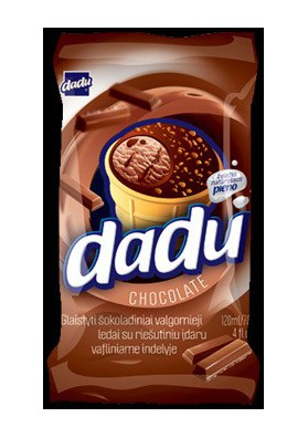 Helado sabor chocolate 36x120ml DADU