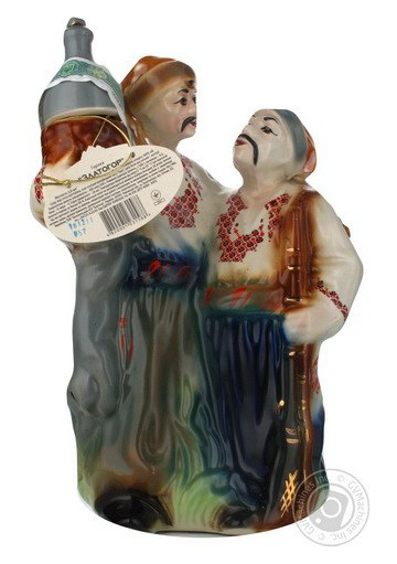 Vodka Gorilochka en ceramica  DVA KOZAKA 40%alc 1L  ZLATOGOR
