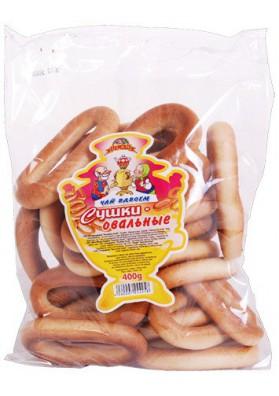 Rosquillas  SUSHKA OVAL 400gr x12 CHAY VDVOEM