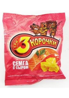 Picatostes de pan negro sabor queso-salmon 40gr TRI KOROCHKI