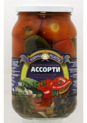 Surtido de tomates y pepinos 12x900gr TR