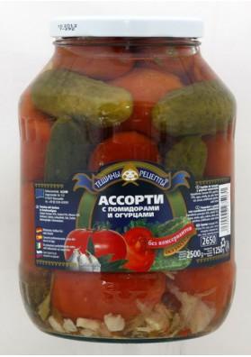 Surtido de tomate y pepinos 6x2500gr TR