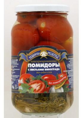 Помидоры консервированные с листьями виноградаПО-ОДЕССКИ 12x900гр ТР