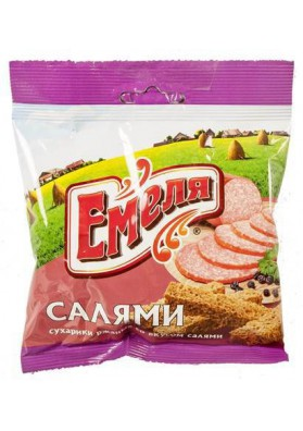 Picatostes sabor salami 60x40gr EMELYA
