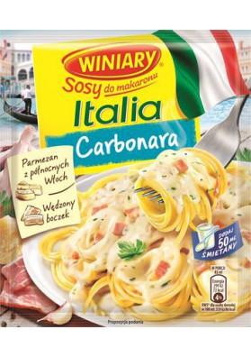 Salsa seca para espagetti carbonara con ajo y queso 34g WINIARY
