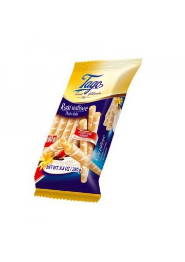 Tubos de barquillos con crema de vanilla 24x280gr TAGO