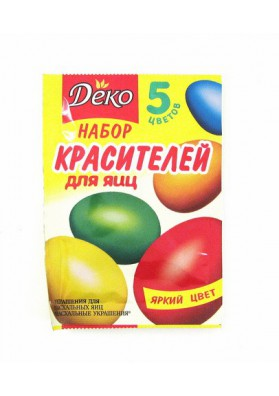 Pintura para huevos 5 colores DEKO