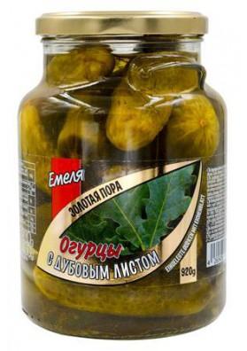 Pepinos con hojas de roble ZOLOTAYA PORA 6x920gr EMELYA
