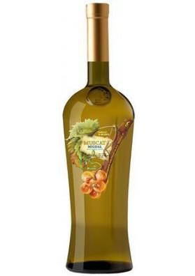 Vino blanco semidulce  MUSKAT MIGDAL  11%alk.12x0.75L