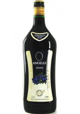 Licor  ANGELLI sabor arandano negro 16%alk.6x1L ROM.