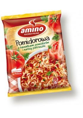 Sopa seco de tomate con fideos con trozos de tomate 22x61gr AMINO