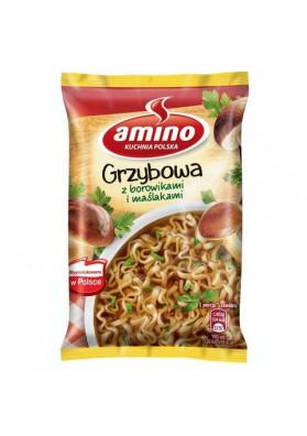 Sopa seco con fideos y setas 24x57gr AMINO