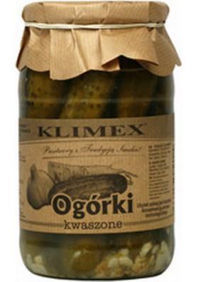 Pepinos en vinagre  KISZONE 8x800gr.KLIMEX