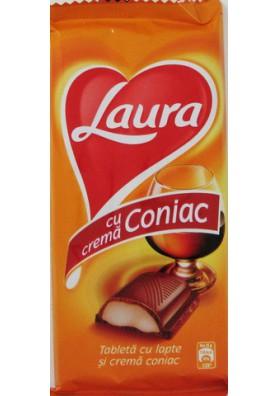 Chocolate con crema de cognac 20x100gr LAURA