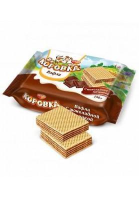 Вафли  КОРОВКА шоколадный вкус 22х150гр РФ