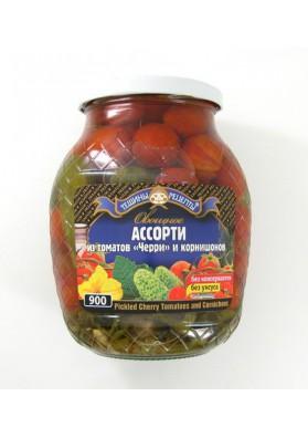 Surtido de tomates cherry+pepinillos 12x840gr TR