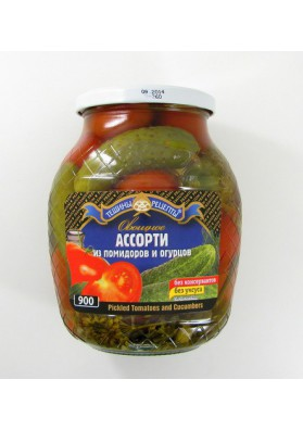 Surtido de tomate y pepinos PREMIUM 12x840gr TR