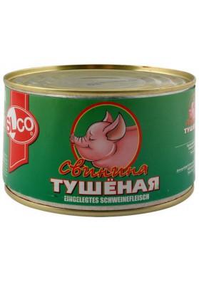 Carne de cerdo guisado enlatado 400gr.SLCO
