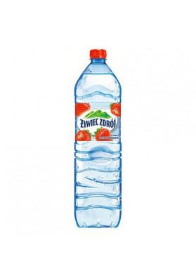 Agua mineral sin gas sabor fresa 1.5L.ZYWIEC ZDROJ