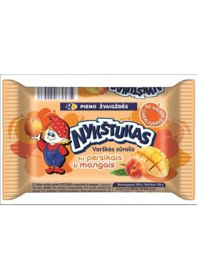Requeson dulce sabor melocoton+mango 6x100gr NYKSTUKAS