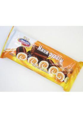 Mini rolada sabor caramelo 5x35gr MASTER DESERTA