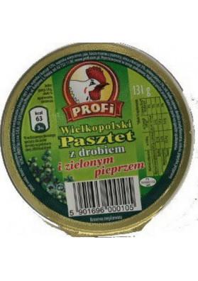 Pate de ave con pimienta verde 12x131g PROFI