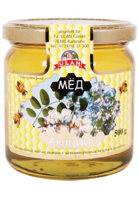 Мёд цветов акации 500гр УЛАН