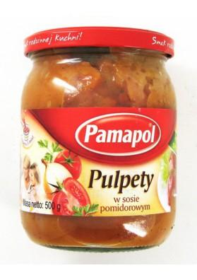 ПУЛЬПЕТЫ в томатном соусе 500гр PAMAPOL