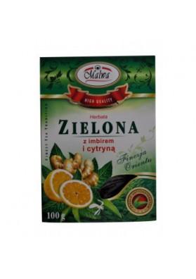 Te verde con limon y jengibre 100gr MALWA