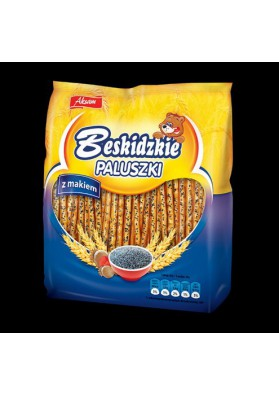 Palitos de pan con semillas de amapola 8x210g AKSAM