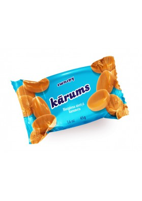 Requeson dulce bañado en chocolate sabor caramelo 40x45gr KARUMS