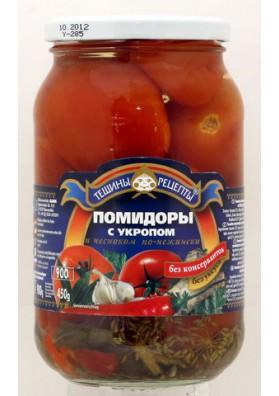 Помидоры консервированные с укропом и чесноком  ПО-НЕЖЕНСКИ  12x900гр ТР
