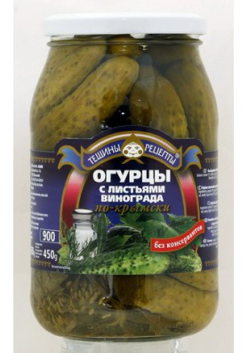 Pepinos concervado con hojas de uva  PO-KRIMSKI  12x860gr  TR