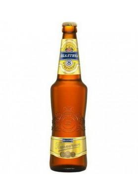 Cerveza clara sin filtrar BALTIKA 8 5%alc. 20x0.47L