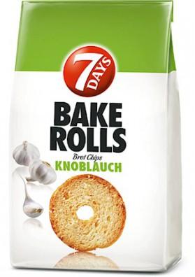Picatostes redondas con ajo BAKE ROLLS 12x80gr 7DAYS