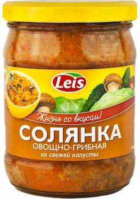 Sopa de verduras/champiñones/col fresca SOLYANKA 10x480gr LEIS