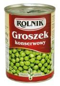 Guisantes verdes conservados 6x400gr.ROLNIK