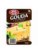 Queso duro  GOUDA con pimiento en lonchas 150gr MLEKOVITA