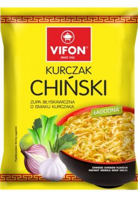 Sopa con fideos sabor polloCHINSKI 24x70gr VIFON