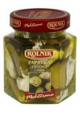 Pimiento verde relleno de queso 6x280gr ROLNIK