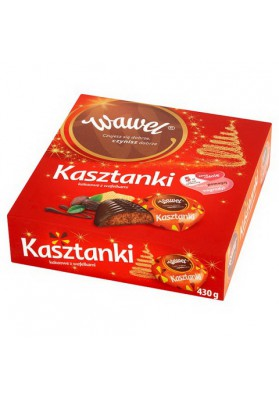 Шоколадные конфетыКАШТАНКИ 8х430гр WAWEL