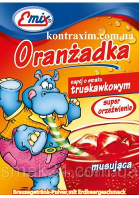 Bebida refrescante en polvo  ORANZADKA TRUSKAWKOWA 30x16gr EMIX