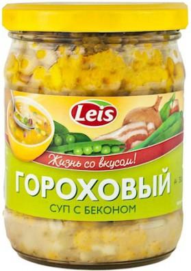 Sopa de guisante con beicon 10x480gr LEIS