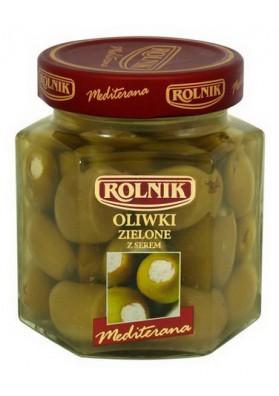 Оливки зеленые фаршированные сыром 6х280гр ROLNIK