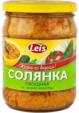 Sopa de verduras SOLYANKA con col fresca 10x480gr LEIS