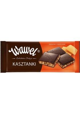 Шоколад с вафельками  КАШТАНКИ 18х100гр WAWEL